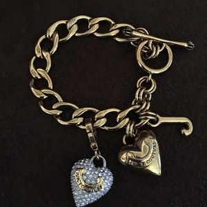 Juicy Couture Charm Bracelet with Crystal Heart